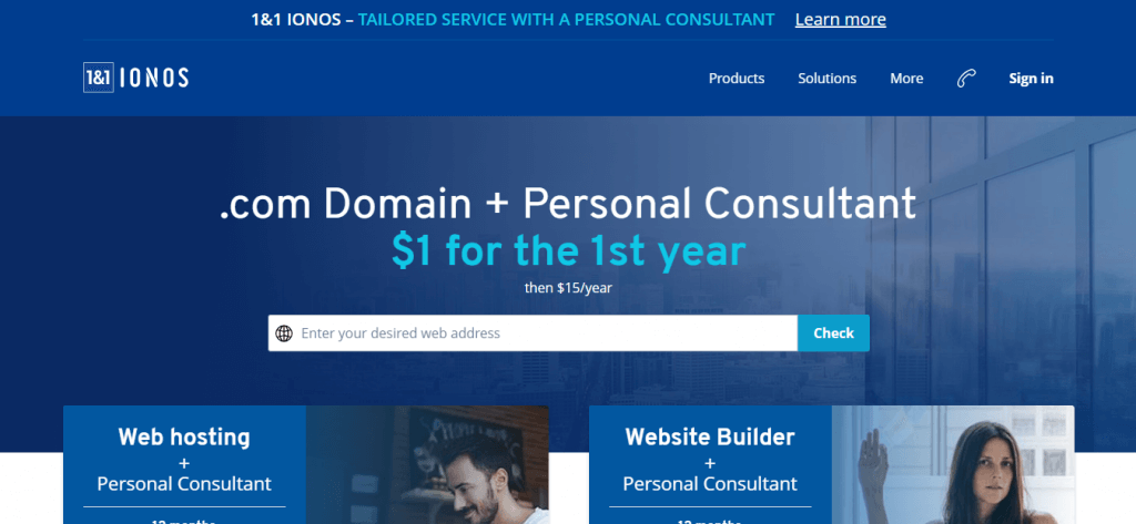 1 & 1 - best place to buy domain name 2019