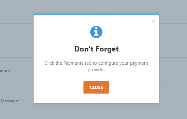don't forget to add payment provider