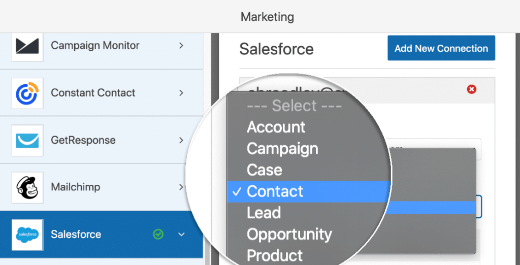 salesforce object with wpforms