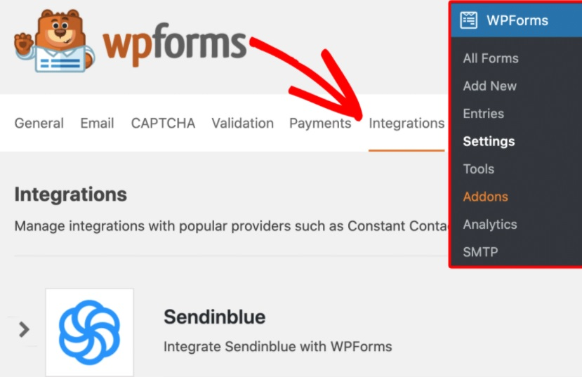 WPForms and Sendinblue in WordPress: How to Install
